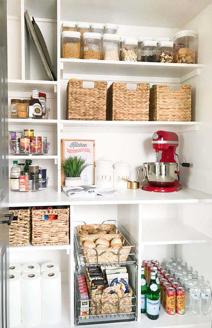 Consider Custom Pantry Shelving Ideas #pantry #shelves #decorhomeideas