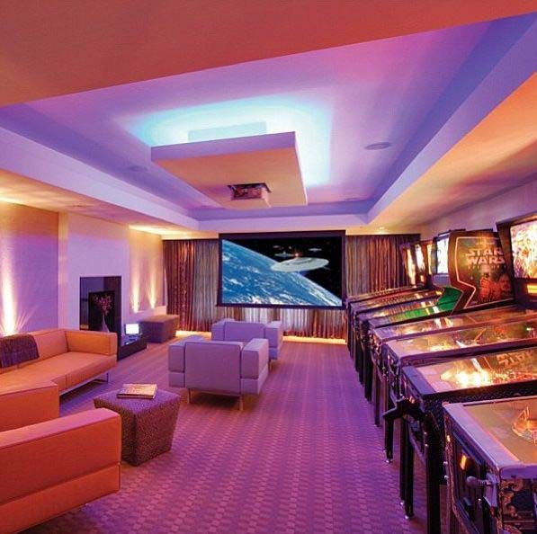 Creating the Illusion of Space through Shape #mancave #decorhomeideas