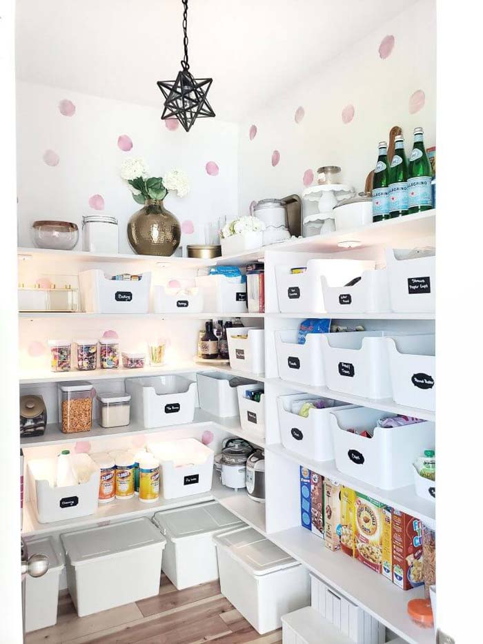 Cute and Organized Kitchen Pantry Ideas #pantry #shelves #decorhomeideas