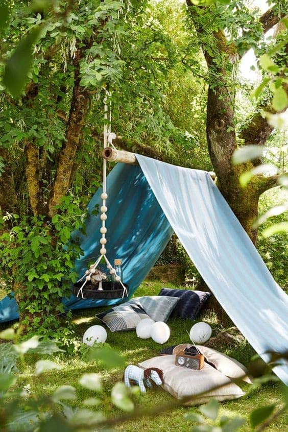 DIY Backyard Tent #backyardhouse #decorhomeideas