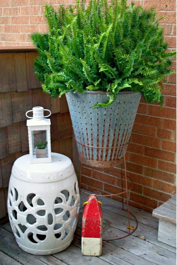 DIY Plant Stand From A Tomato Cage #diy #plantstand #decorhomeideas