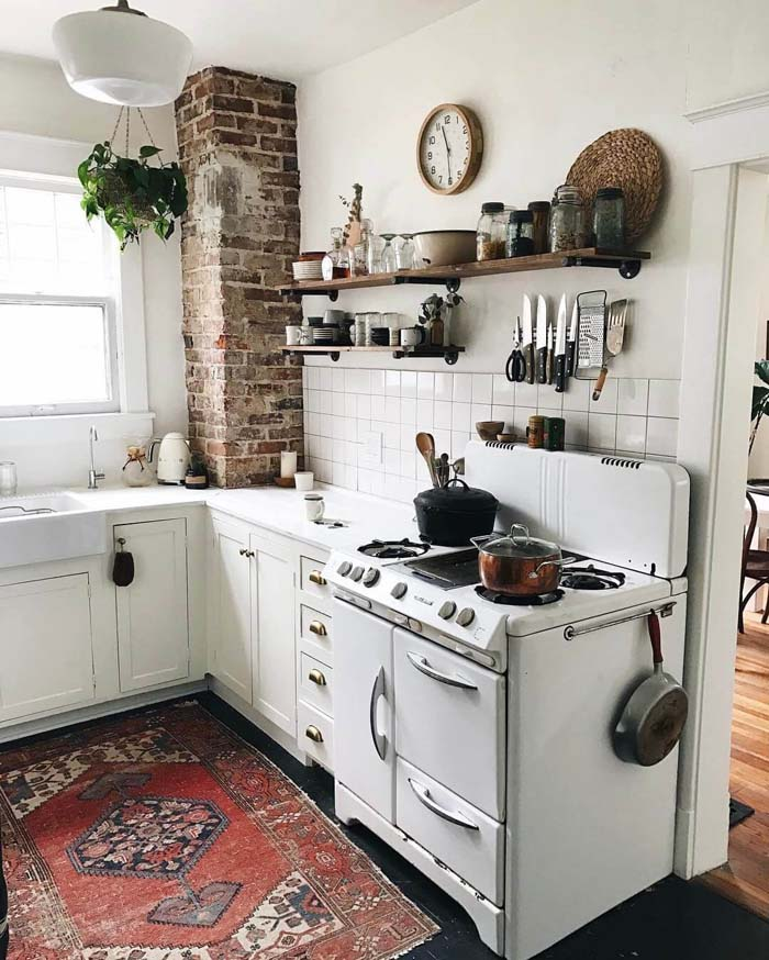 Eclectic Cottage Kitchen Design and Decorating Ideas #cottage #kitchen #decorhomeideas