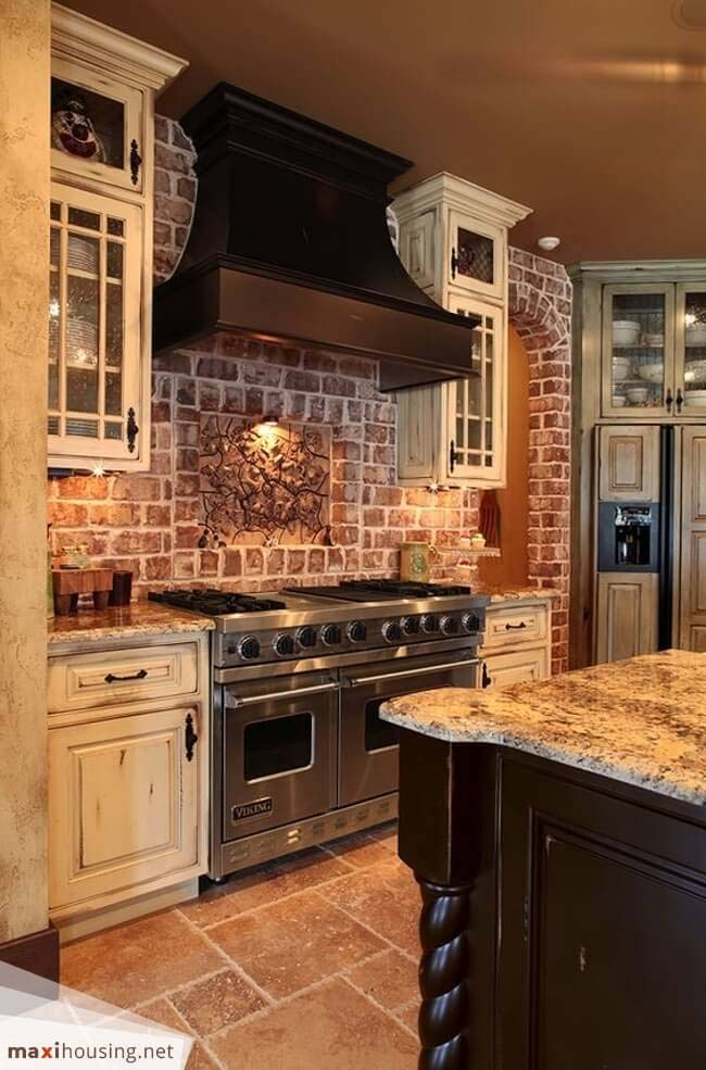 Forest Retreat Rustic Earth-Toned Kitchen #rustic #kitchencabinet #decorhomeideas
