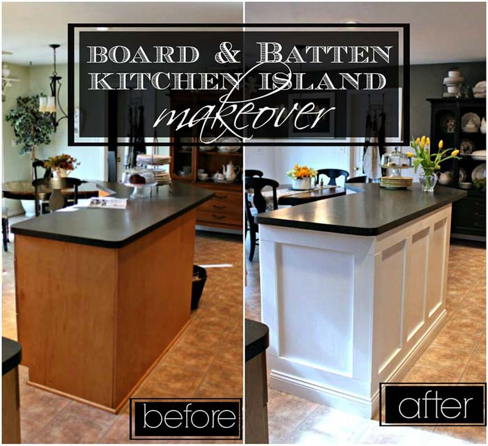 Give Your Island a Face Lift with New Facing #diy #ktichenisland #decorhomeideas