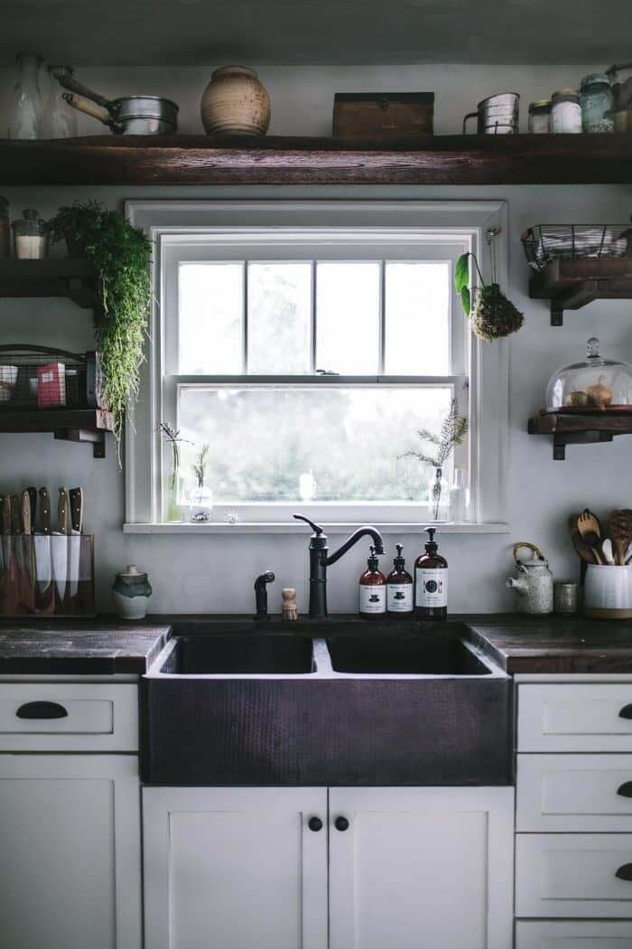 Hudson Valley Style Rustic Kitchen #rustic #kitchencabinet #decorhomeideas