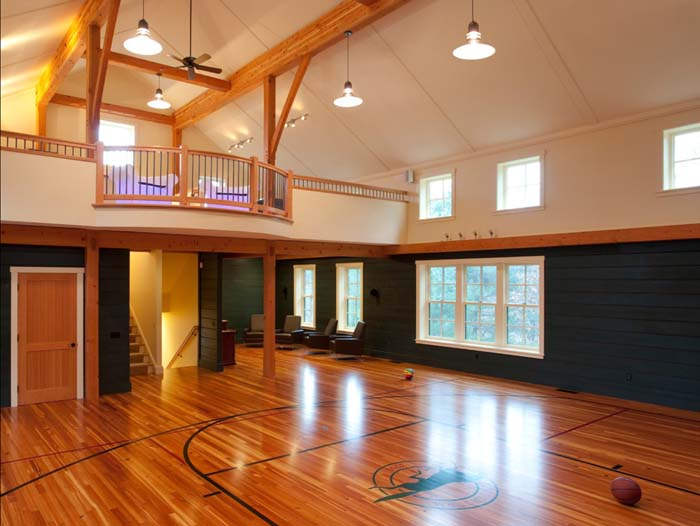 In-home Basketball Court #mancave #decorhomeideas