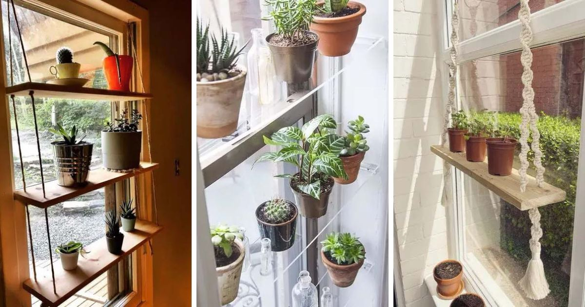 20 Neat And Practical Indoor Window Shelf Ideas For Plants Decor Home Ideas