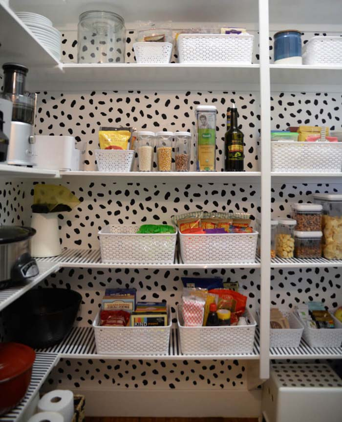 Kitchen Pantry Ideas for Creating Larger Pantries #pantry #shelves #decorhomeideas