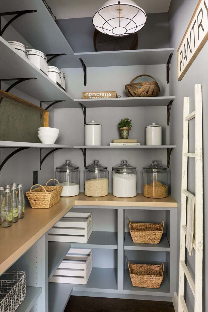 Large Modern French Pantry Shelving Ideas #pantry #shelves #decorhomeideas