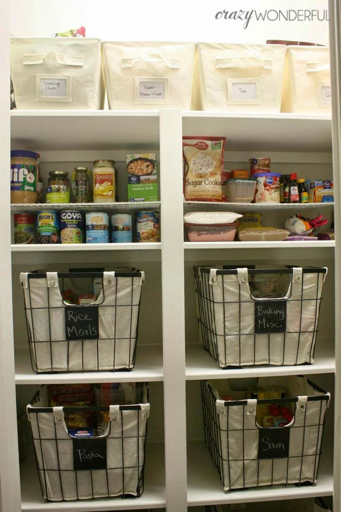 Looking for Less Intensive Pantry Organization Ideas #pantry #shelves #decorhomeideas