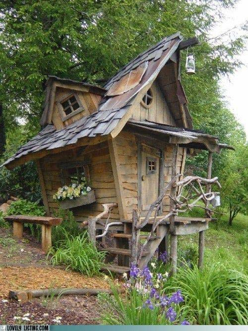 Magical Fairytale Playhouse #backyardhouse #decorhomeideas