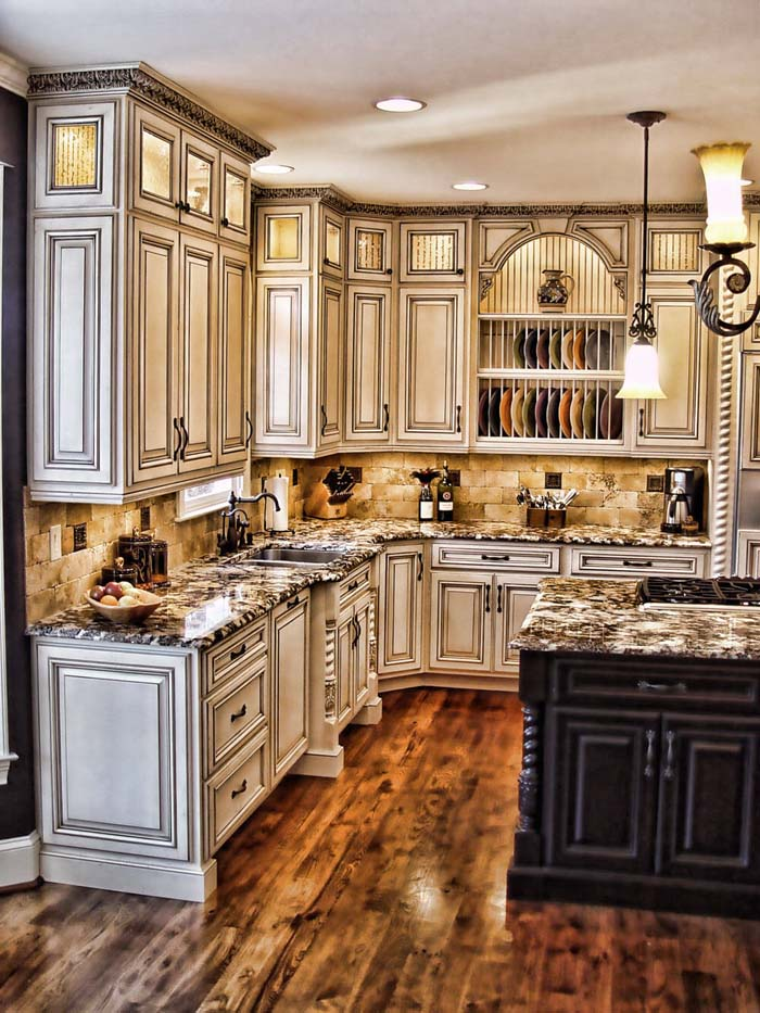 Maison-Chic Rustic Kitchen Cabinet Designs #rustic #kitchencabinet #decorhomeideas