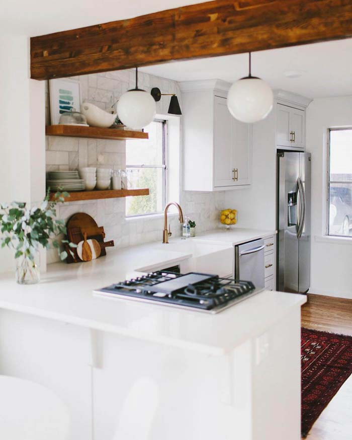 Make a Big Statement with Exposed Beams #cottage #kitchen #decorhomeideas