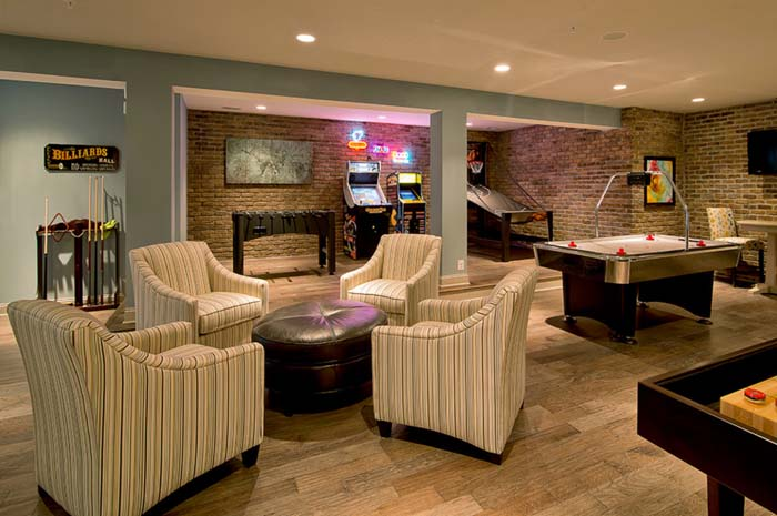 Not Afraid of Color #mancave #decorhomeideas