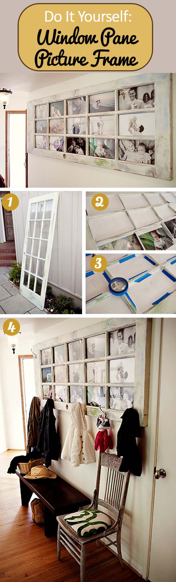 Old Doors Make the Best Picture Frames #diy #weekendproject #decorhomeideas