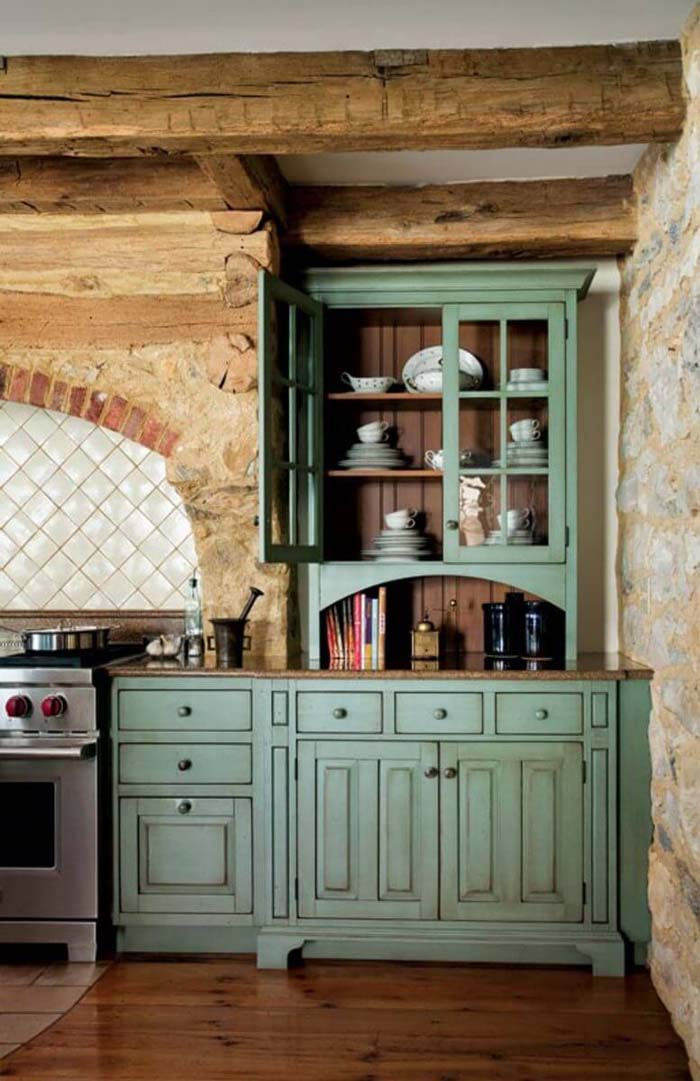 Parisian Patisserie Style Cabinets #rustic #kitchencabinet #decorhomeideas
