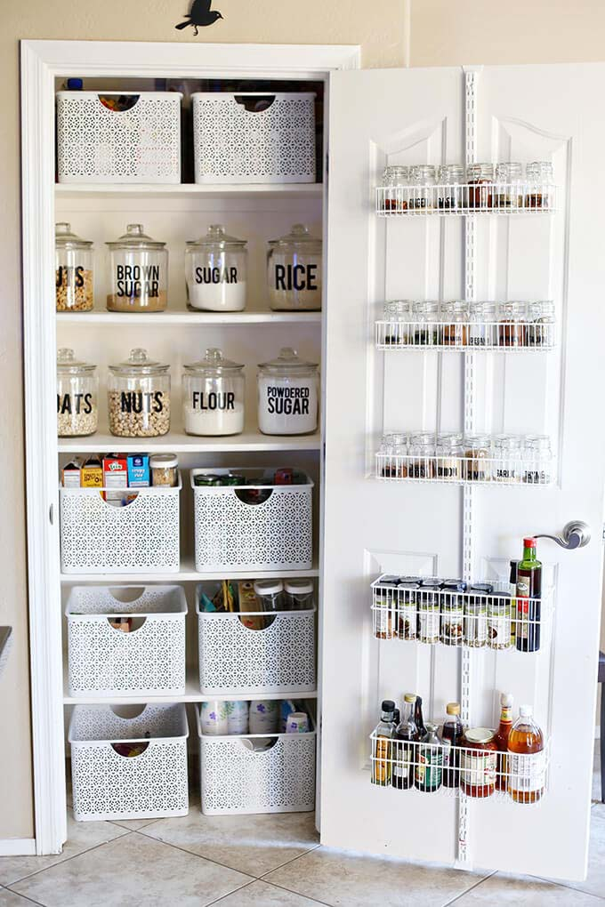 Product and Inventory Control Pantry Organization Idea #pantry #shelves #decorhomeideas