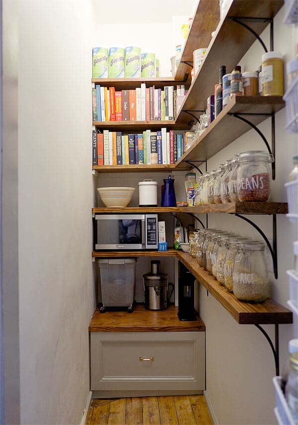 Remodeled Pantry Shelving Ideas #pantry #shelves #decorhomeideas