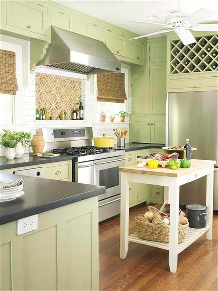 Rustic Key Lime Kitchen Cabinets #rustic #kitchencabinet #decorhomeideas