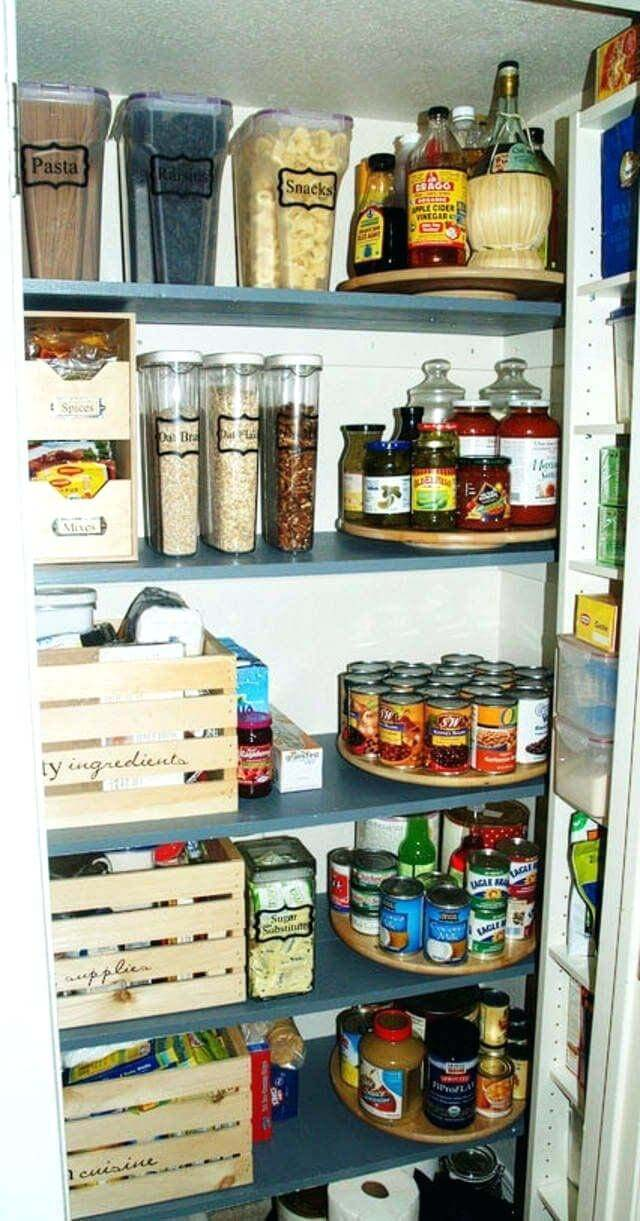 Rustic Small Closet Pantry Design Idea #pantry #shelves #decorhomeideas