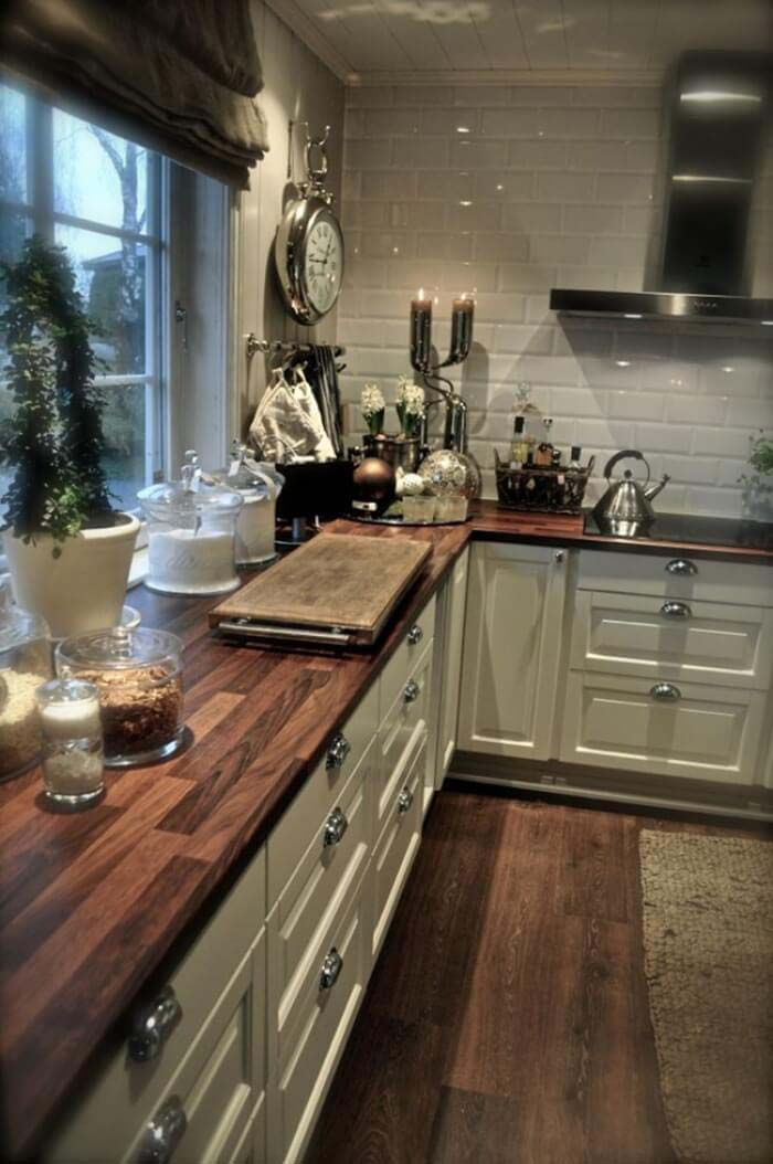 Rustic Soho Bistro Kitchen #rustic #kitchencabinet #decorhomeideas