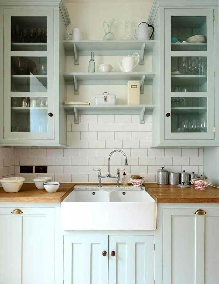 Scandinavian Farmhouse Kitchen #rustic #kitchencabinet #decorhomeideas