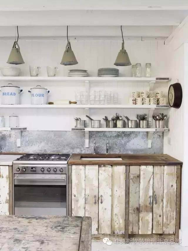 Scandinavian Sea Cottage Kitchen #rustic #kitchencabinet #decorhomeideas