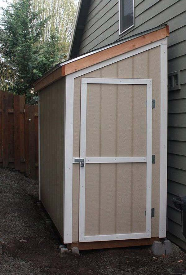 Simple Half-Sized Storage Shed for Your Yard #shed #garden #decorhomeideas