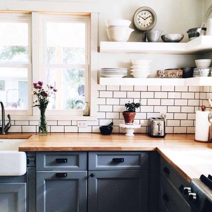 So Fresh So Clean Cottage Kitchen #cottage #kitchen #decorhomeideas