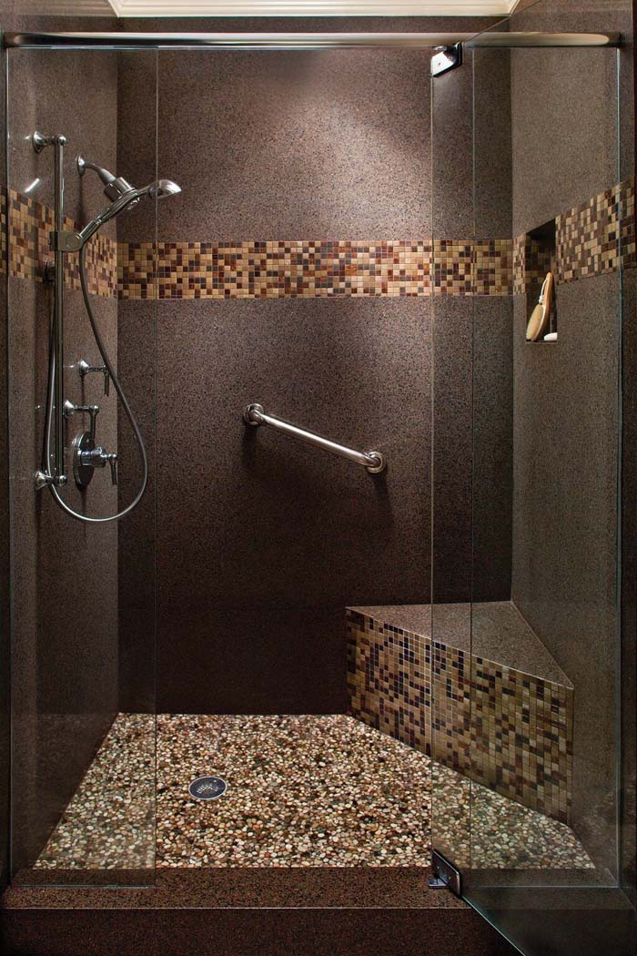 South-By-Southwest Multi-Tiered Shower Design #showertiles #tiles #decorhomeideas