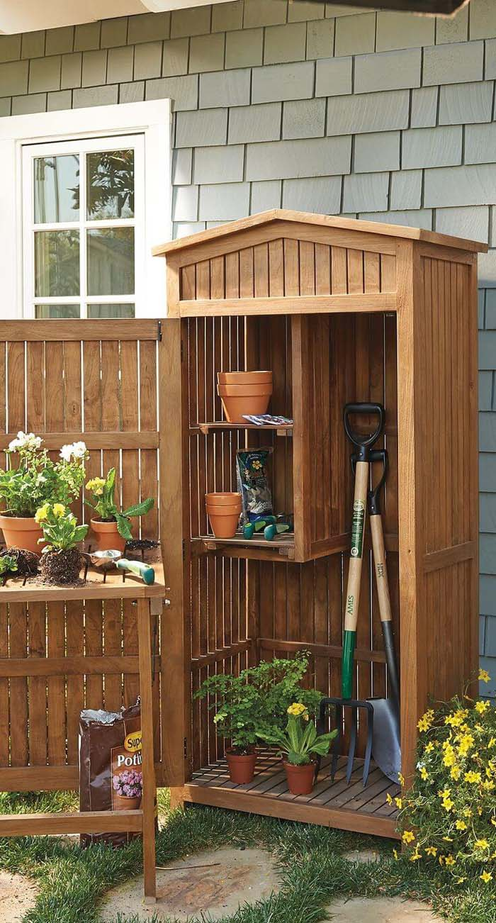 Storage Cabinet for All Your Gardening Needs #shed #garden #decorhomeideas