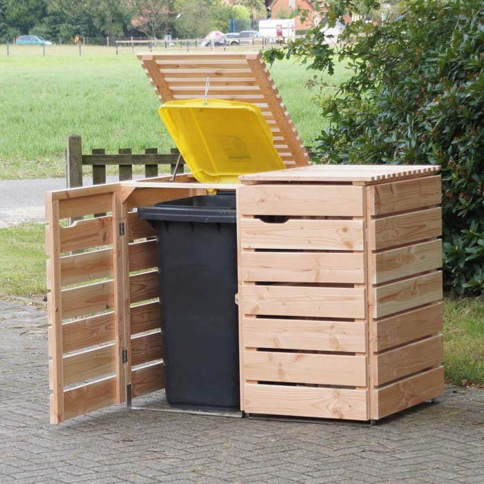 Storage to Keep Your Garbage Undercover #shed #garden #decorhomeideas