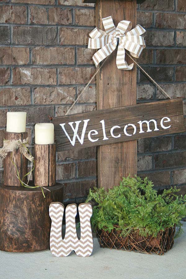 Style Your Post with Seasonal Decor Items #porch #post #decorhomeideas