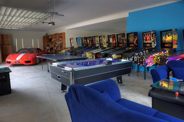 The Pinball Wizard #mancave #decorhomeideas