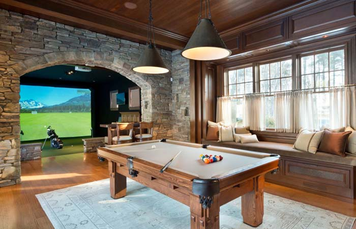 The Rustic Look with Brick #mancave #decorhomeideas