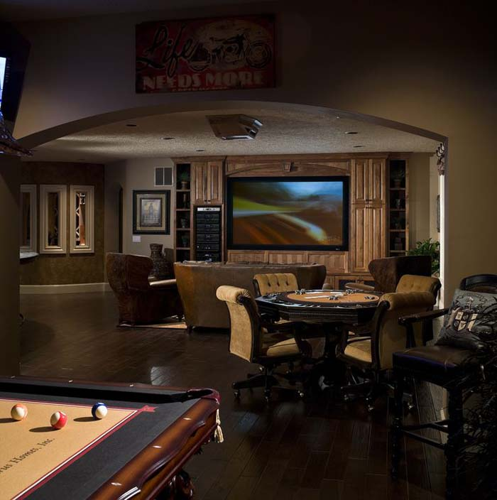 The Upside of Unusual Ceilings #mancave #decorhomeideas
