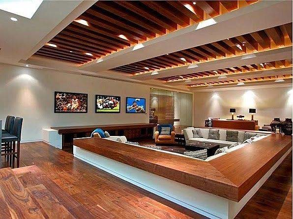 Turning a Living Room into a Man Cave #mancave #decorhomeideas