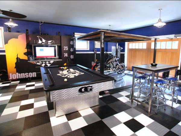 Unclamping Your Garage's Style #mancave #decorhomeideas
