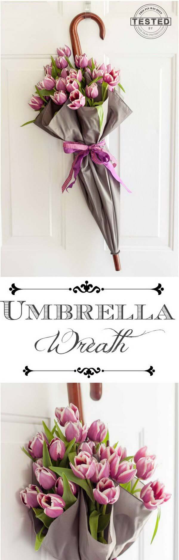 Unique and Whimsical Umbrella Display #spring #decor #decorhomeideas