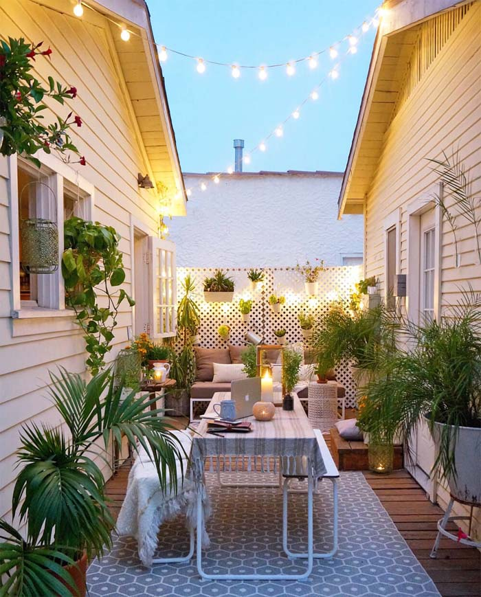 Well-placed Lighting can Enlarge Smaller Spaces #lighting #yard #outdoor #decorhomeideas