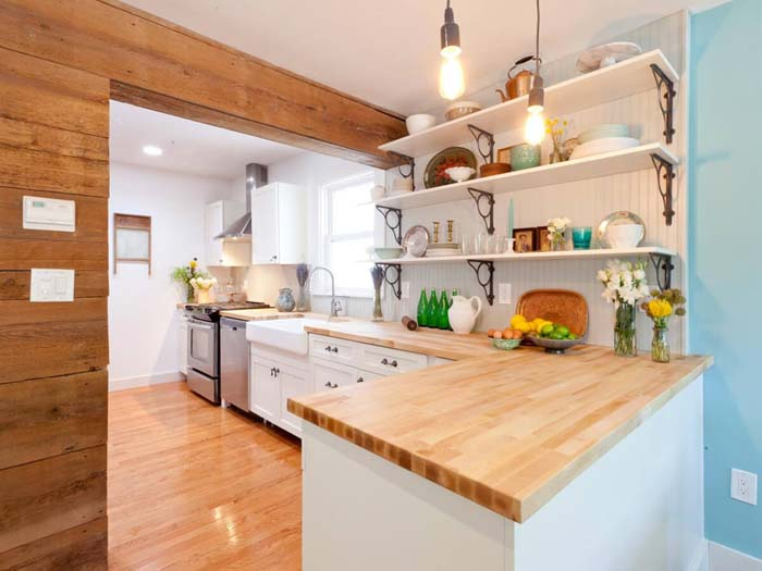 Woodsy Cottage Kitchen Design and Decorating Ideas #cottage #kitchen #decorhomeideas