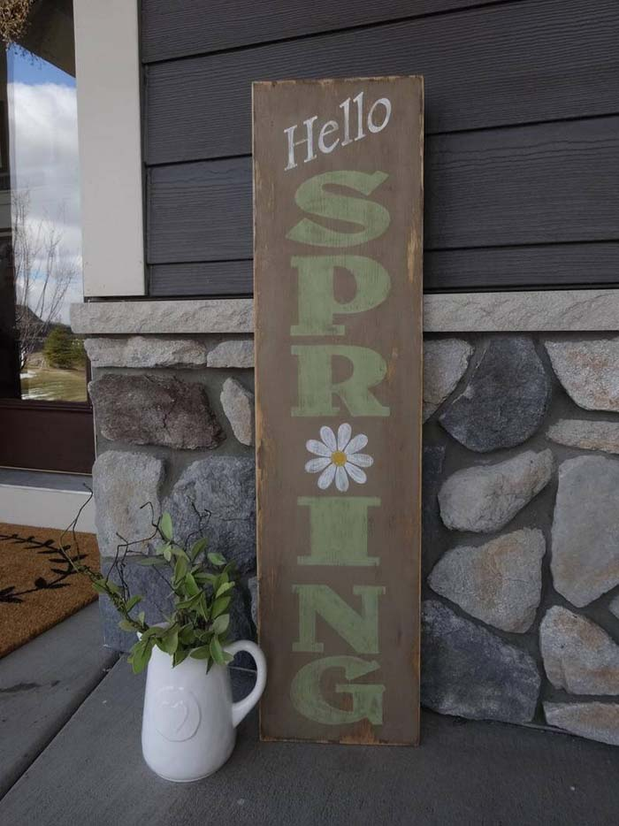 A Simple and Unique Way to Say Spring #outdoor #springdecor #decorhomeideas