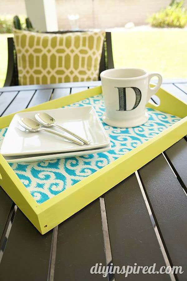 Beautifully Appointed Springtime Colorful Tray #springdecor #dollarstore #decorhomeideas