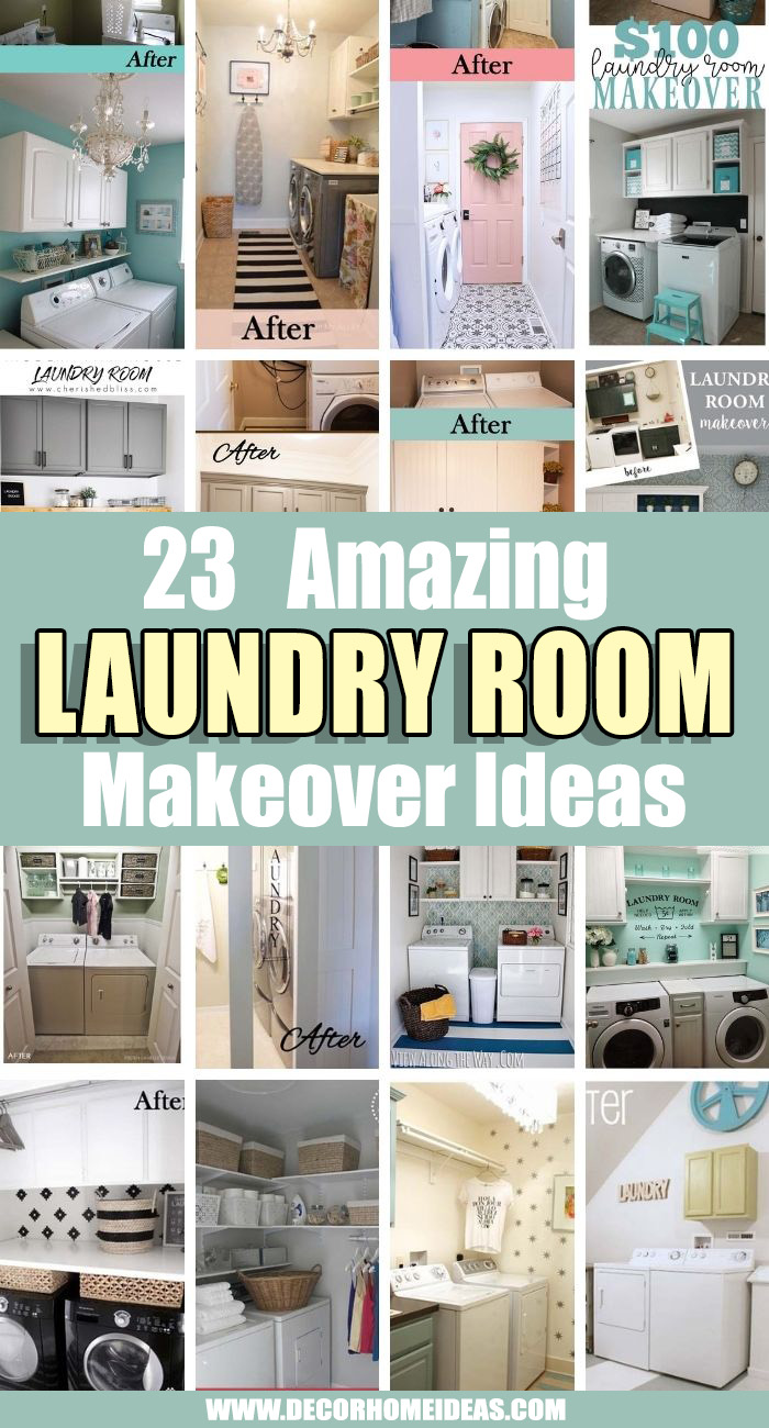 Best Laundry Room Makeover Ideas. Are you bored with your laundry room? We have selected the best laundry room makeover ideas with before and after photos to see how you can make your looks stunning. #decorhomeideas