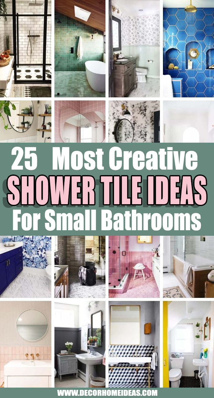 Best Shower Tile Ideas For Small Bathrooms. If you are in doubt what are the best shower tile ideas for small bathrooms we are here to help with these creative shower tile designs. #decorhomeideas