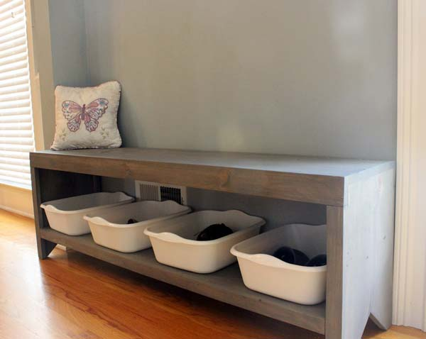 Build A Bench With Shoe Storage