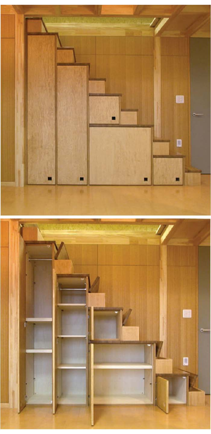 Cabinets Beneath the Stairs Maximize Unused Space #storage #organization #decorhomeideas