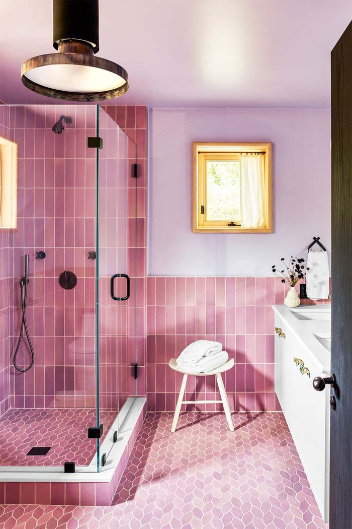 Combine Different Shapes #showertile #bathroom #decorhomeideas