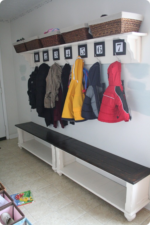 Cut Up Table Entryway Benches