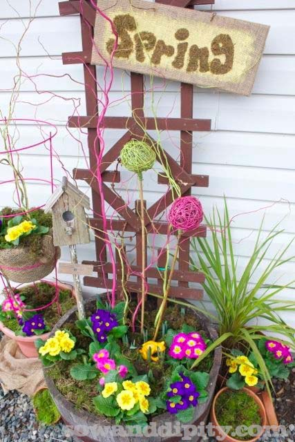 First Sign Of Spring #outdoor #springdecor #decorhomeideas